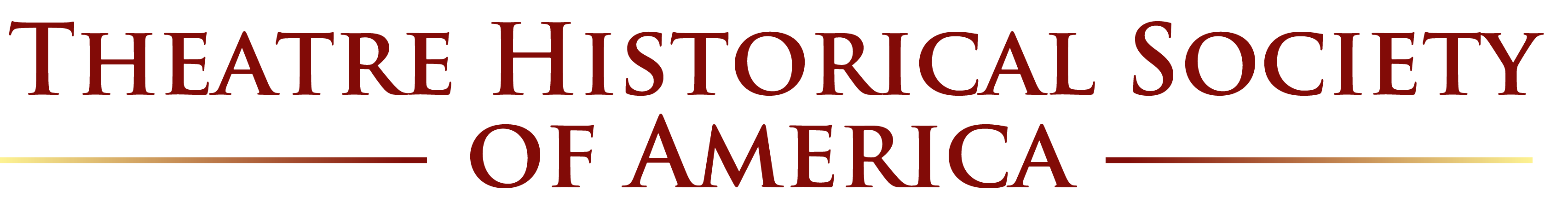 Theatre Historical Society of America logo